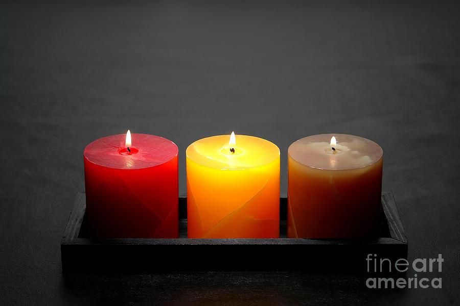 Pillar Candles Photograph