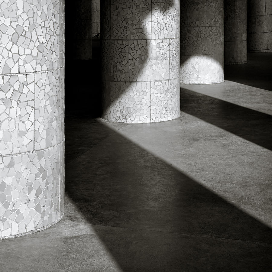 Park Guell Photograph - Pillars And Shadow by Dave Bowman