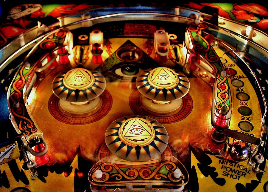 Pinball All Seeing Eye Photograph  - Pinball All Seeing Eye Fine Art Print