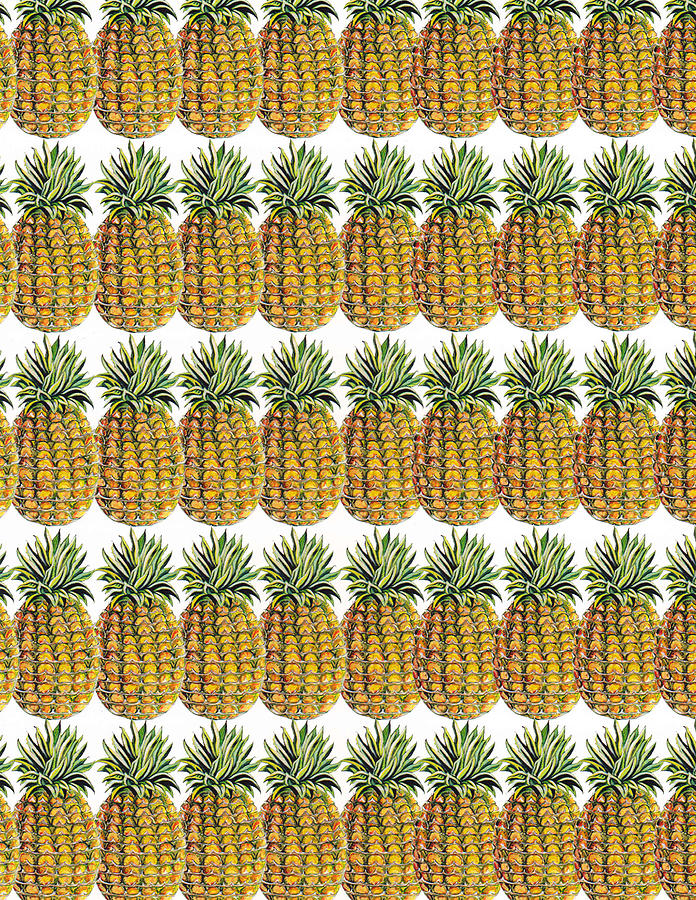 Pineapple Parade Painting - Pineapple Parade by John Keaton