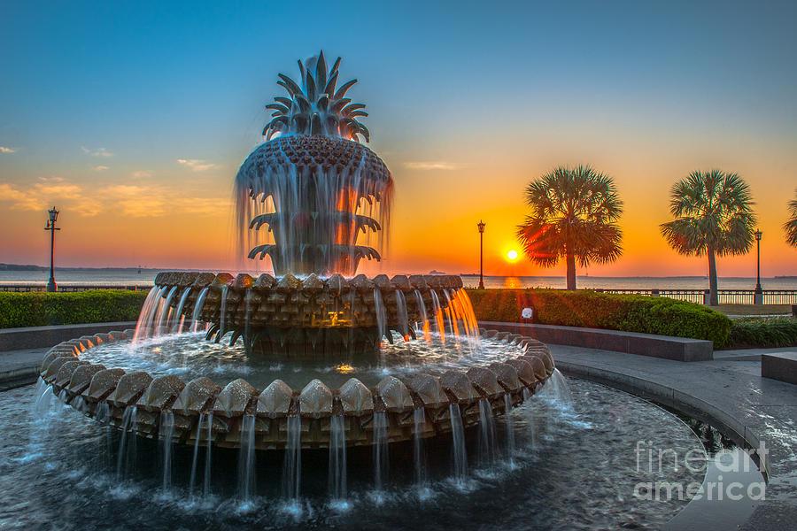 Charleston Pineapple Sunrise Photograph