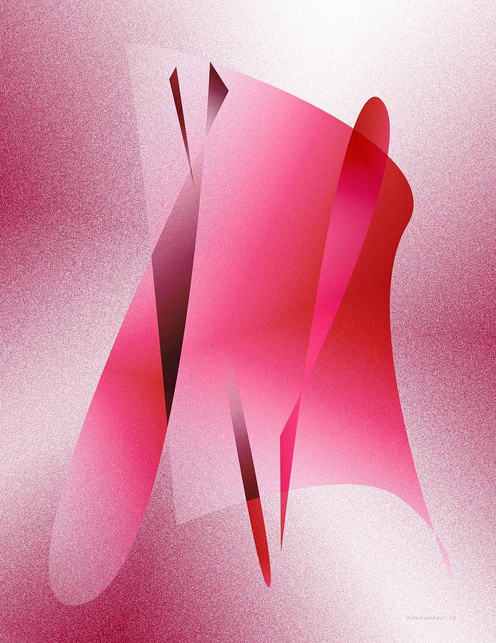 Pink Abstract Art Digital Art