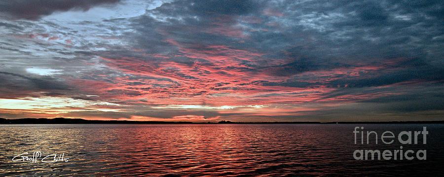 Pink And Grey At Sea - Sunrise Panorama  Photograph
