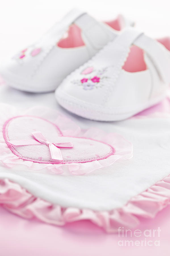 Pink Baby Girl Clothes Photograph  - Pink Baby Girl Clothes Fine Art Print
