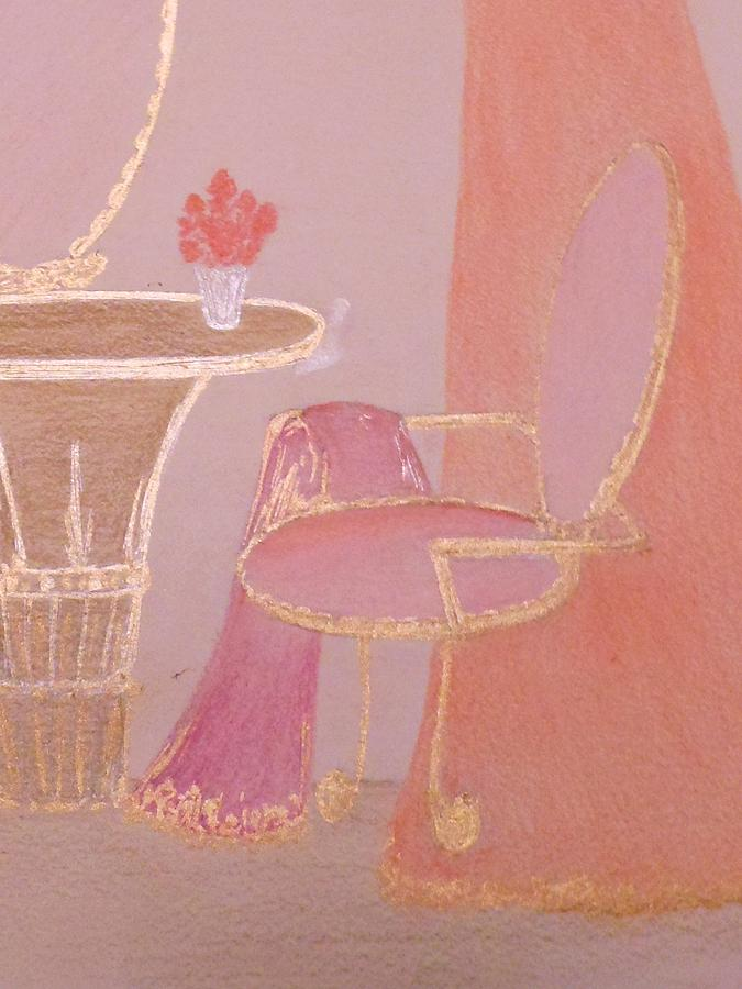 Pink Boudoir Chair Drawing