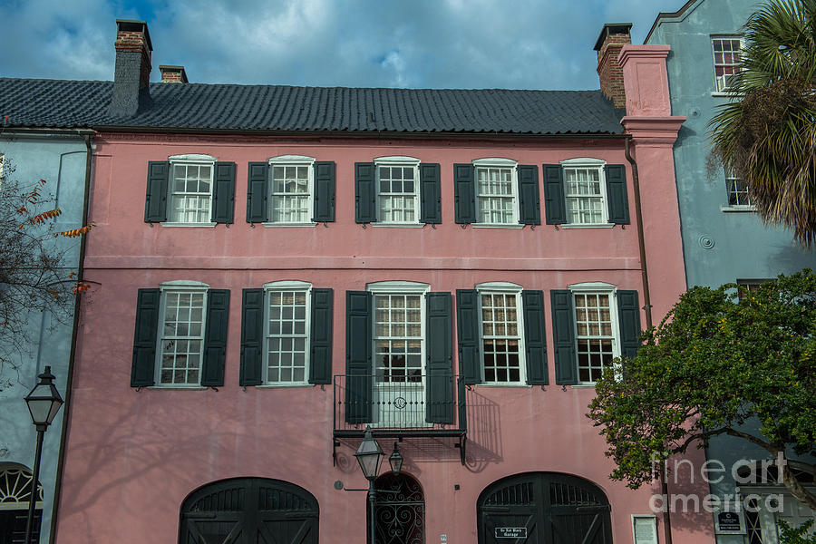 Pink Colonial Home Photograph