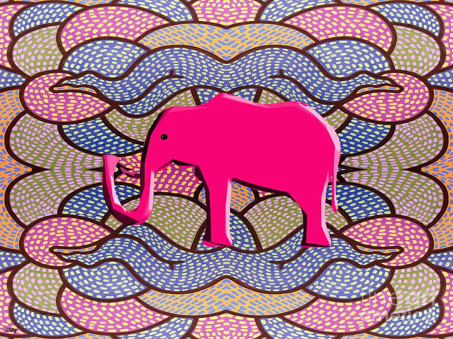 Pink Elephant Painting