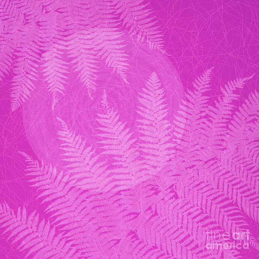 Pink Fern Pattern Photograph