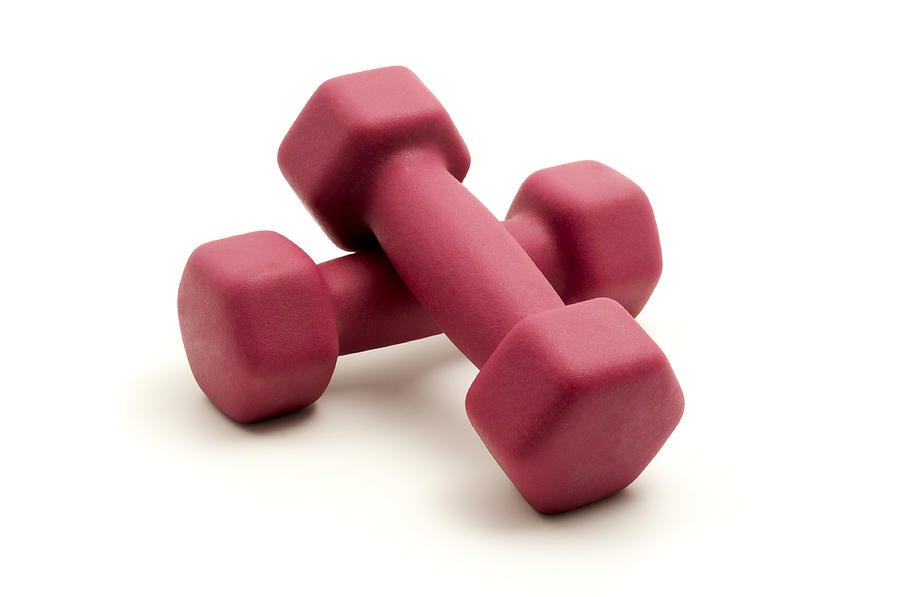 Pink Fixed-weight Dumbbells Photograph  - Pink Fixed-weight Dumbbells Fine Art Print