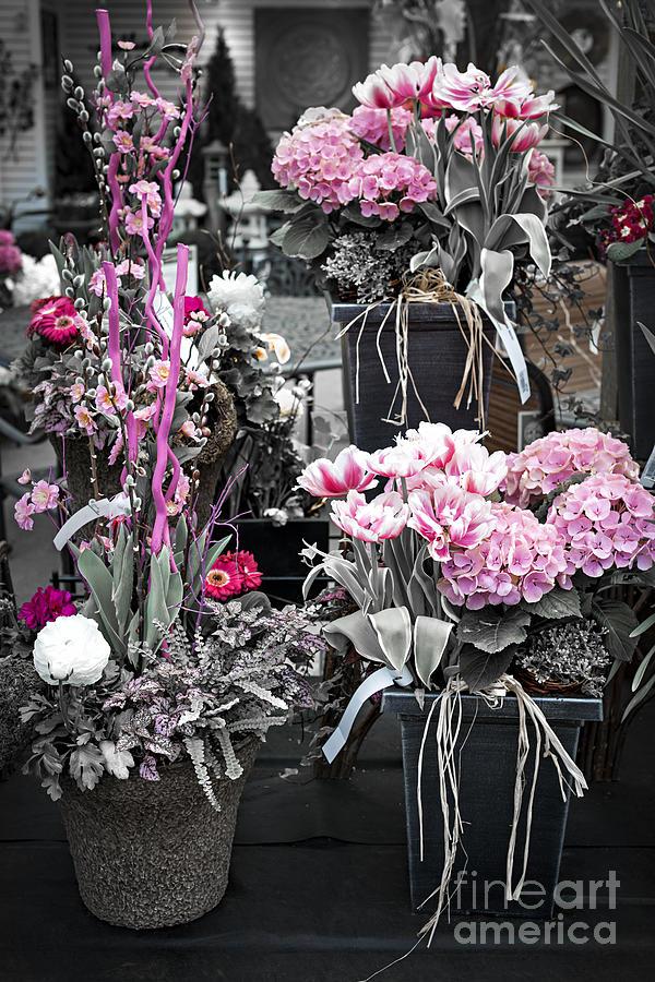 Pink Flower Arrangements Photograph