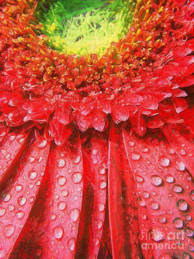 Pink Gerbera Flower Painting