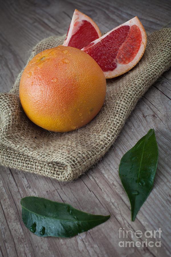 Pink Grapefruit Photograph