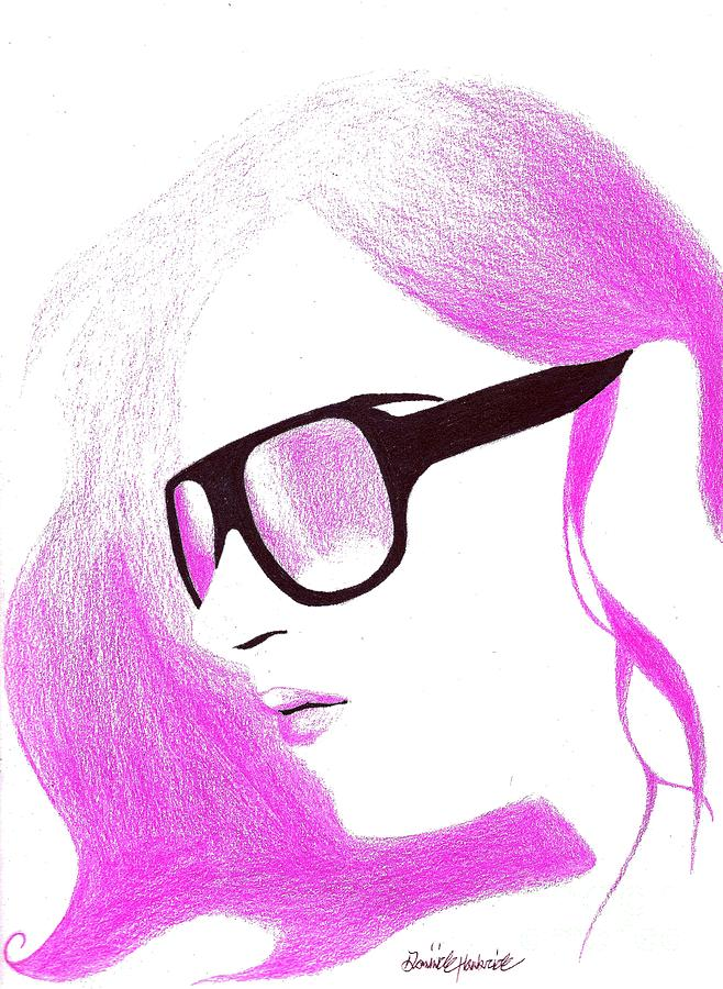 Pink Haze Drawing  - Pink Haze Fine Art Print