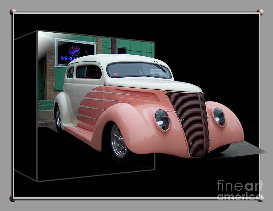 Out Of Bounds Photograph - Pink Hot Rod 01 by Thomas Woolworth
