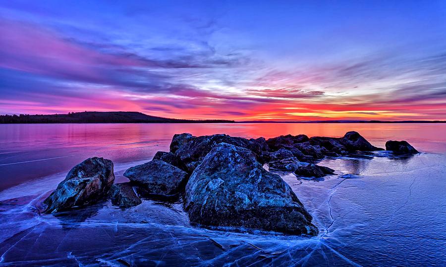 Pink Ice At Dawn Photograph