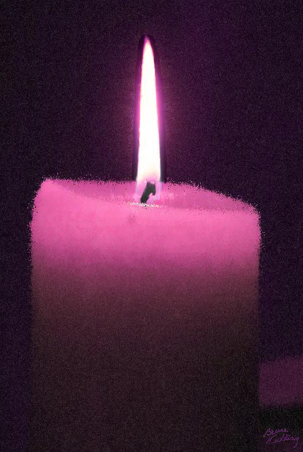 Pink Lit Candle is a painting by Bruce Nutting which was uploaded on ...