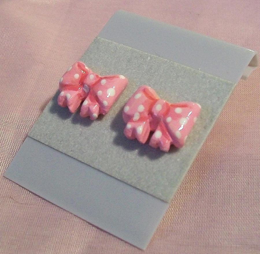 Pink Polkadot Bows Jewelry