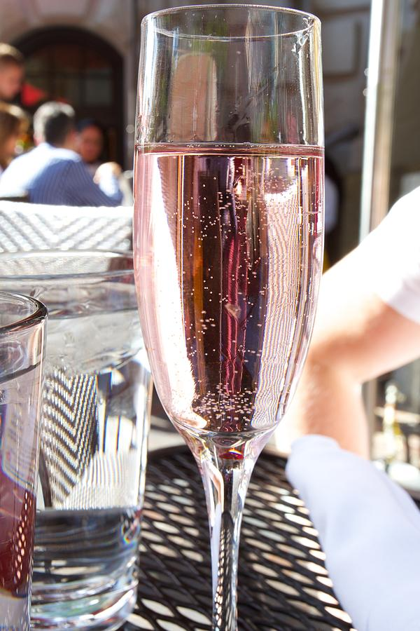 Pink Prosecco Photograph