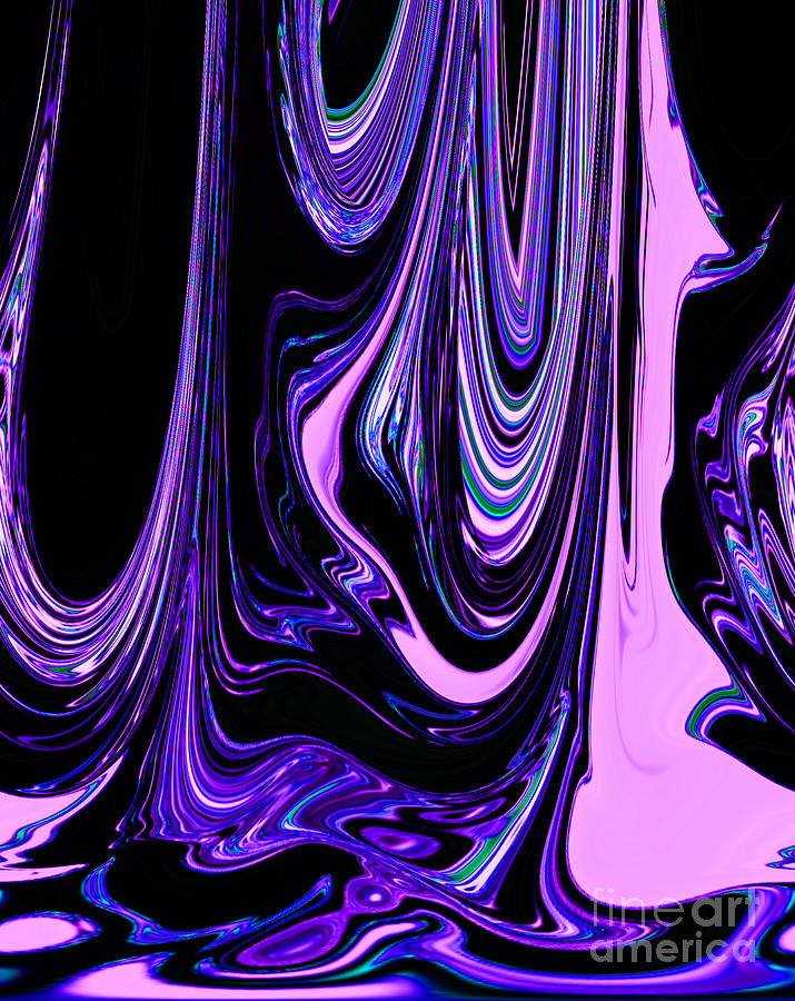 Pink purple black colorful ribbons of water flowing - Purple and red go together ...