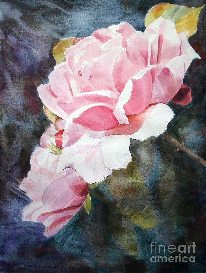 Pink Rose Caroline Painting