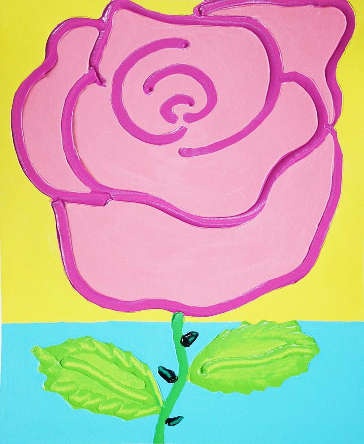 Rose Painting - Pink Rose by Matthew Brzostoski