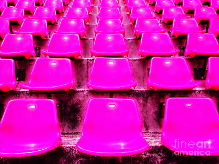 Pink Seats Digital Art  - Pink Seats Fine Art Print