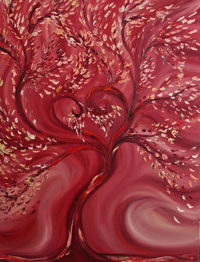 Tree Painting - Pink Splendor by Felix Concepcion