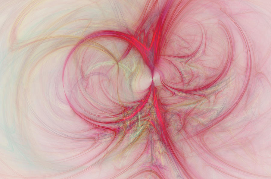 Pink Swirls Digital Art  - Pink Swirls Fine Art Print