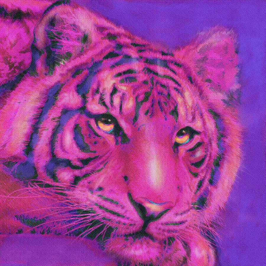 Pink Tiger Digital Art By Jane Schnetlage