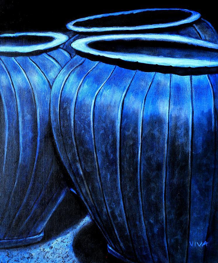 Pinstripe Pots Painting
