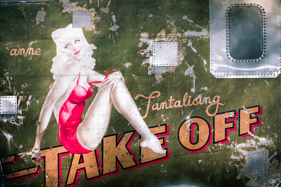 Pinup Girl - Aircraft Nose Art - Take Off Anne Photograph