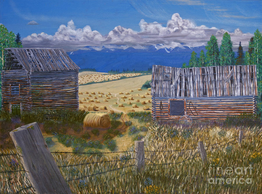 Pioneer Homestead Painting