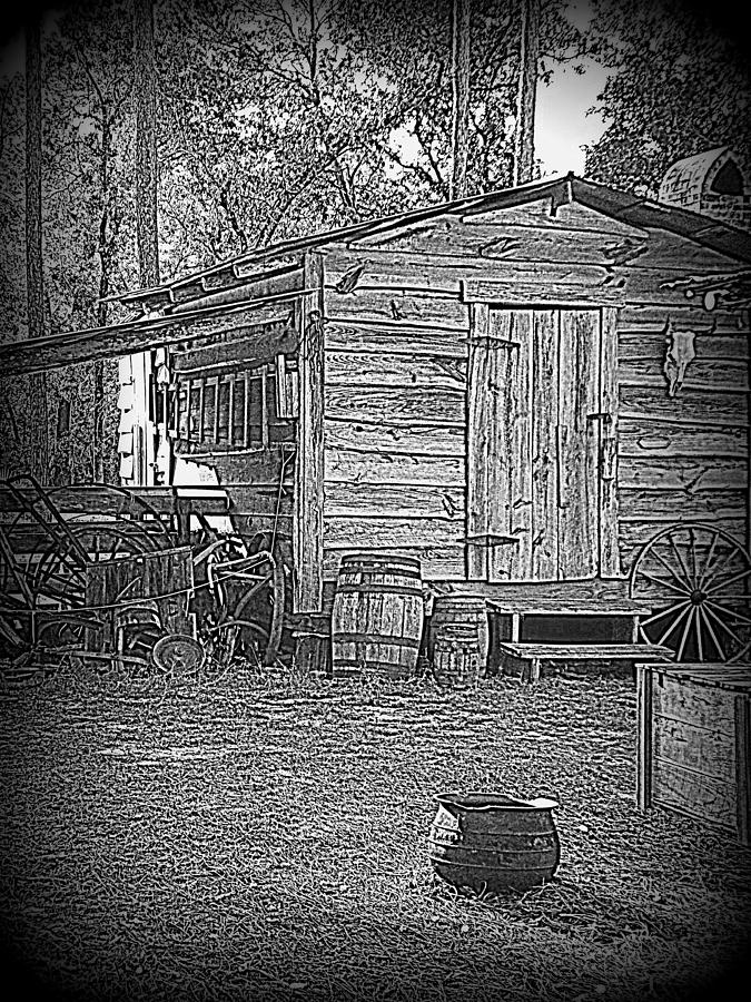 Tool Shed Photograph - Pioneer Tool Shed by Sheri McLeroy