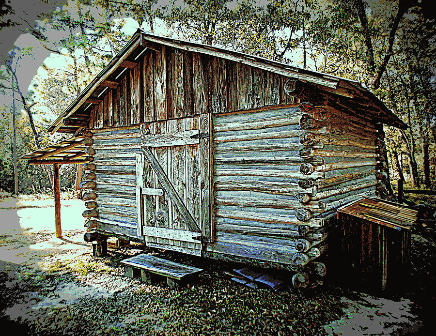 Woodshed Photograph - Pioneer Woodshed by Sheri McLeroy