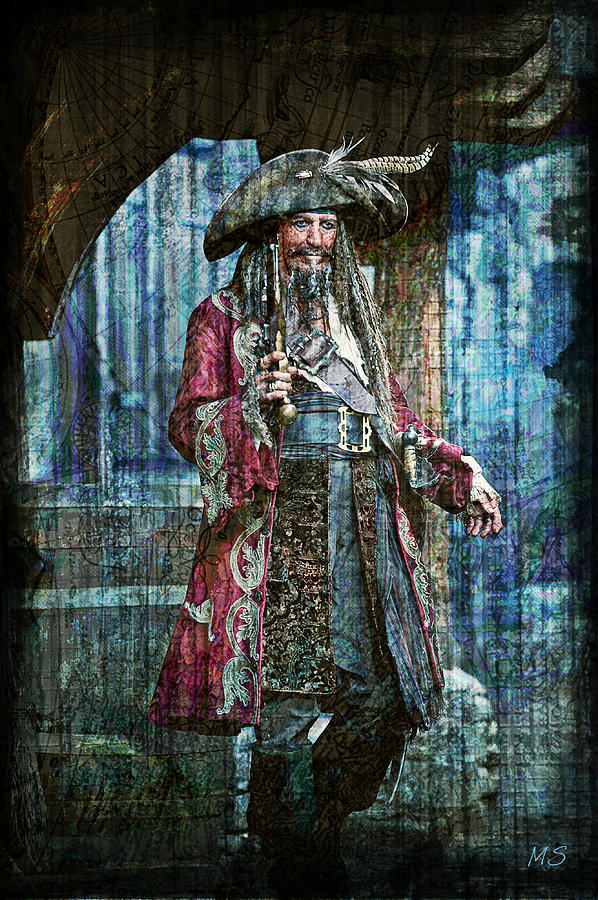 Pirate Keith Richards Digital Art