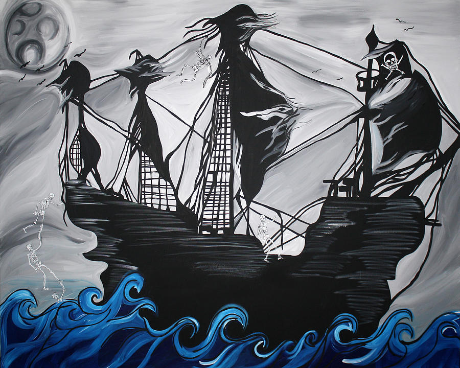 Pirate Ship Painting  - Pirate Ship Fine Art Print