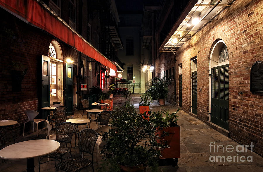 Pirates Alley At Night Photograph  - Pirates Alley At Night Fine Art Print