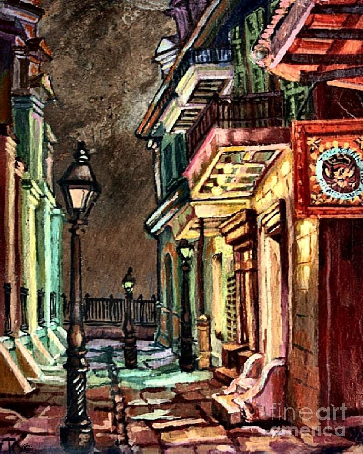 Pirate's Alley Evening Painting by Lisa Tygier Diamond
