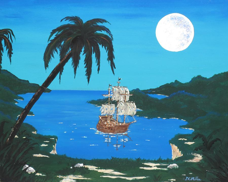 Ship Painting - Pirates Cove by Don Miller