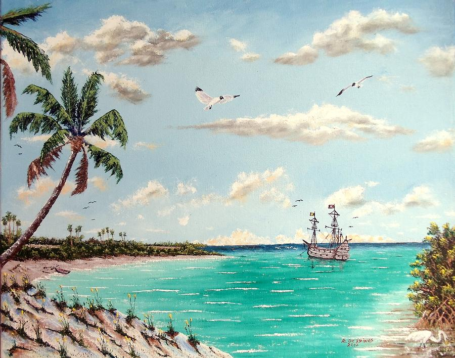 Nature Painting - Pirates On Pavilion Key by Riley Geddings