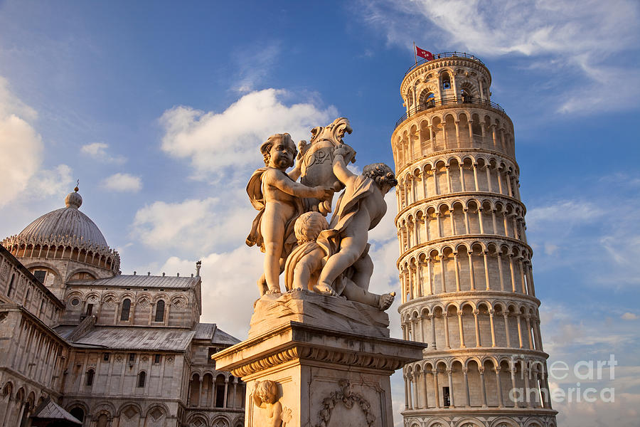 Pisas Leaning Tower Photograph  - Pisas Leaning Tower Fine Art Print