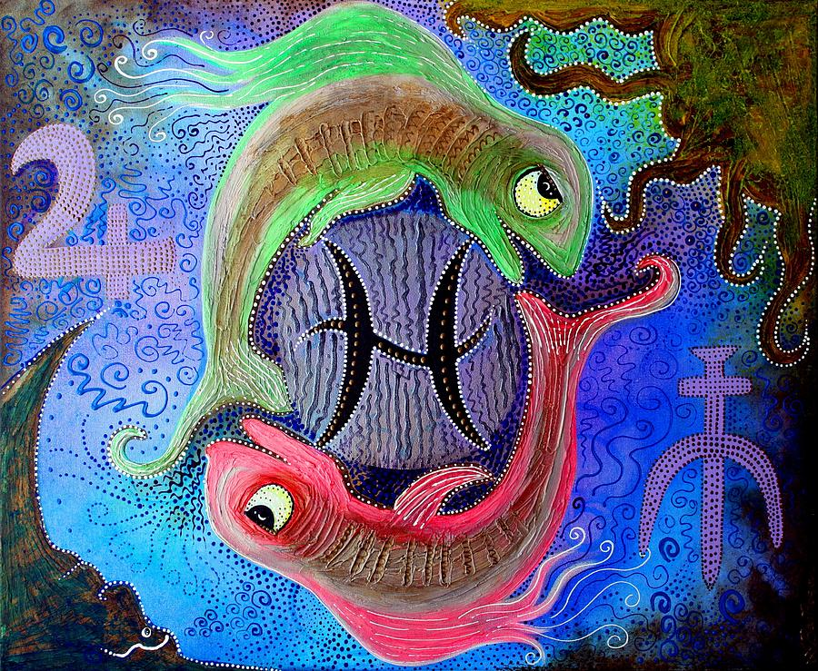 Astrology Painting - Pisces by Laura Barbosa