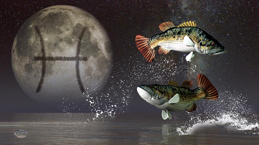 Pisces Zodiac Symbol Digital Art