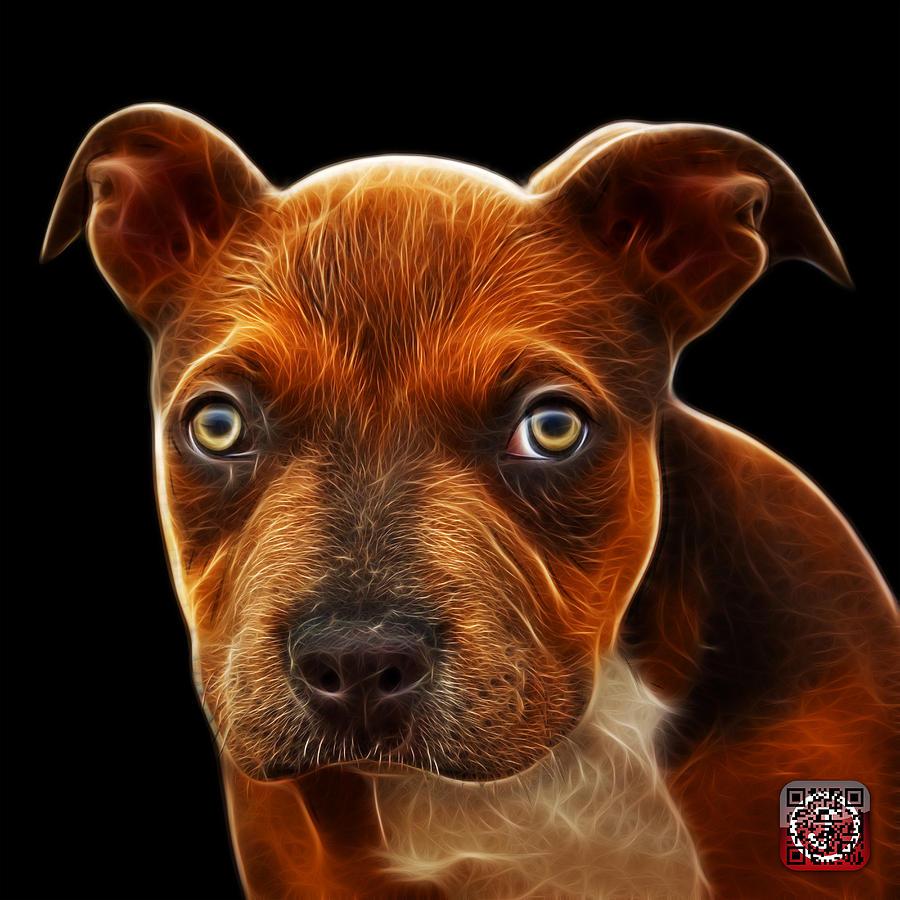 Pitbull Puppy Pop Art - 7085 Bb Painting