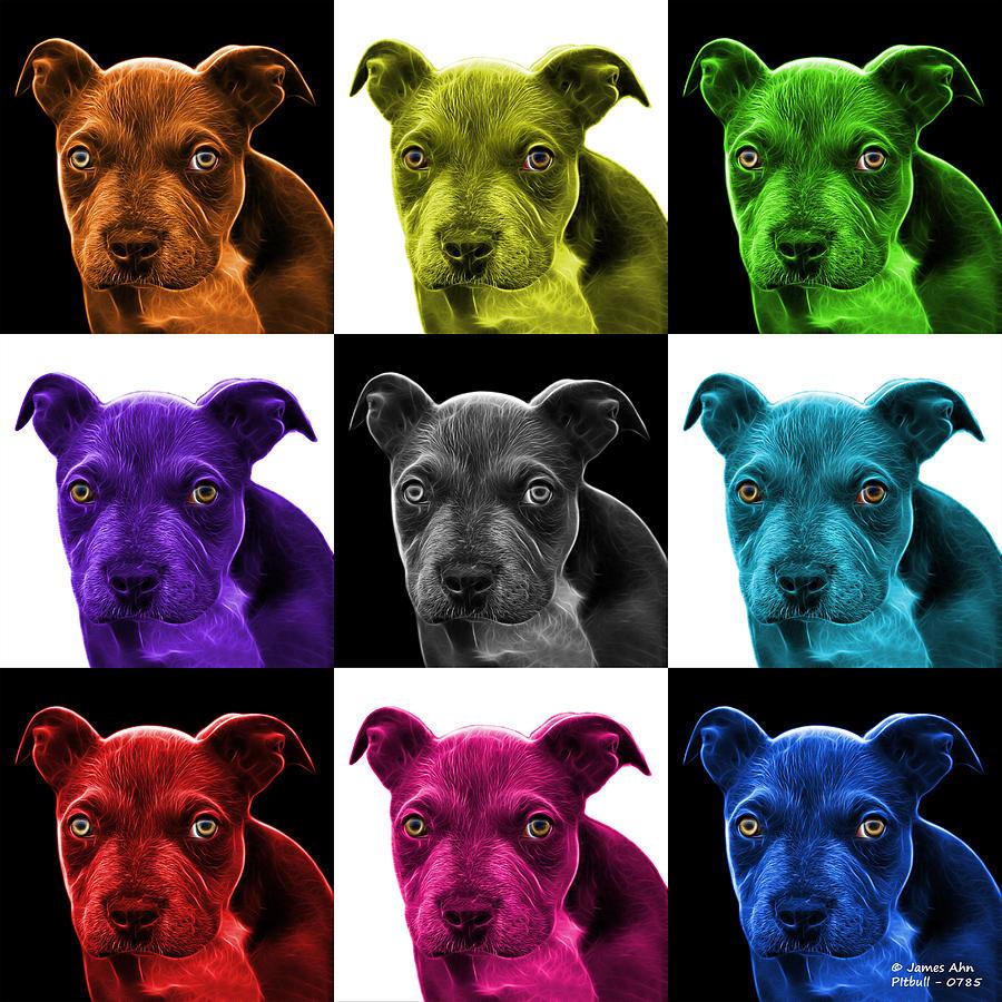 Pitbull Puppy Pop Art - 7085 V1 - M Photograph
