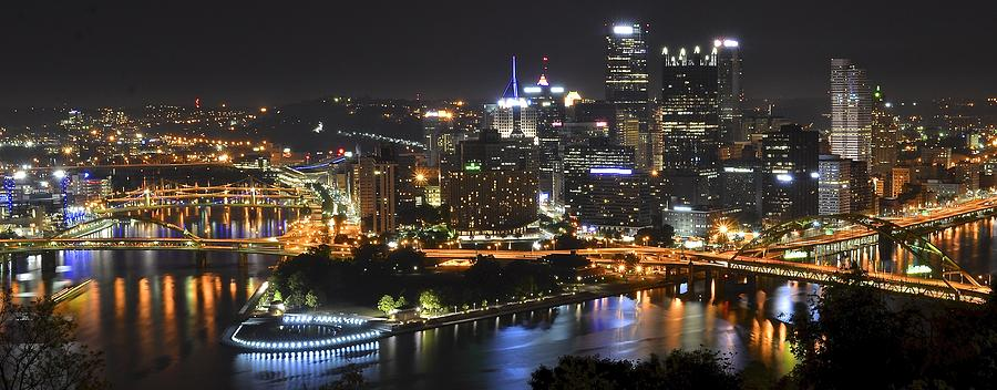 pittsburgh three rivers panorama photograph by frozen in time fine art photography. Black Bedroom Furniture Sets. Home Design Ideas