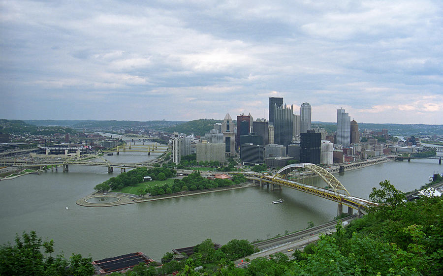 Pittsburgh - View Of The Three Rivers Photograph