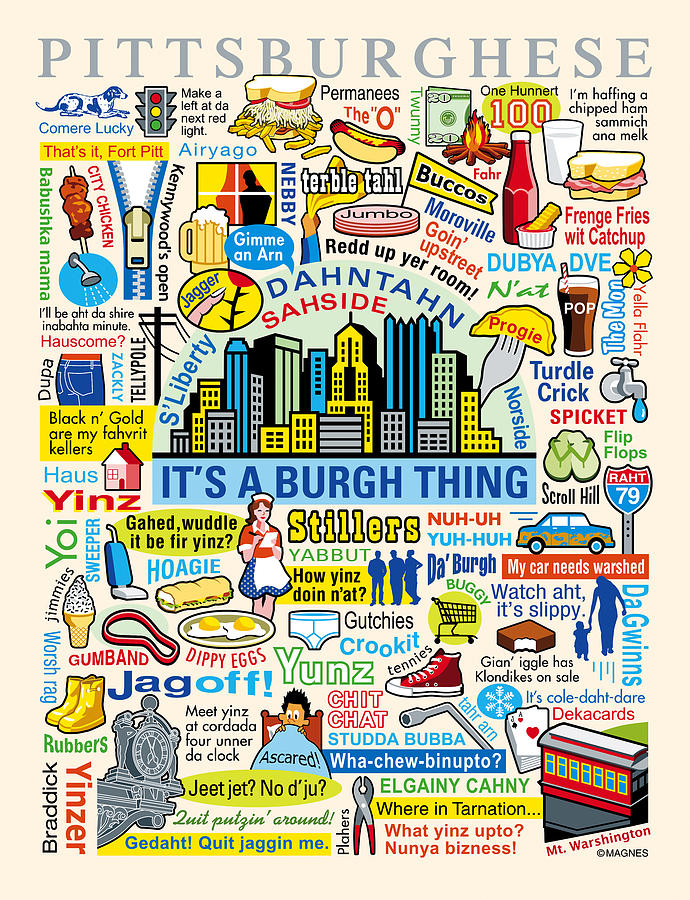 Pittsburghese Digital Art  - Pittsburghese Fine Art Print