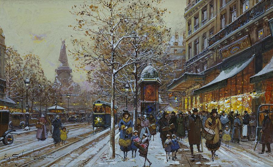 Place De La Republique Paris Painting