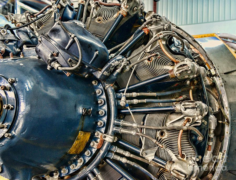 Plane Engine Close Up Photograph